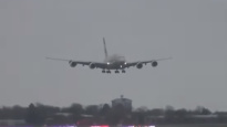WATCH: Etihad Airways A380 grapples with 90mph winds during Heathrow landing