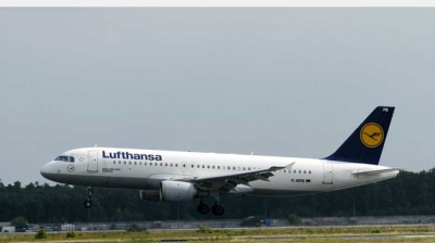 WATCH: Lufthansa plane engine bursts into flames after bird strike