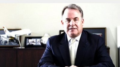 Etihad CEO James Hogan hails 'historic day' for airline