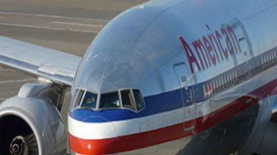 American Airlines lands smoking plane
