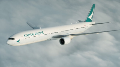 Cathay Pacific misspells its own name on aircraft