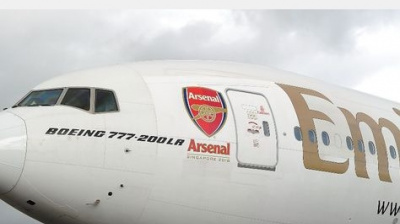 BIG PICTURE: Emirates unveils first Arsenal-branded aircraft