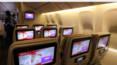 Emirates reveals new screens for inflight entertainment system