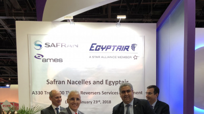 Egyptair selects Safran for A330 thrust reversers maintenance