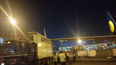 Investigation after flight from Dubai hits catering truck