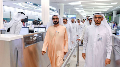 Sheikh Mohammed hails services at Dubai International Airport