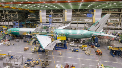 Key milestone on Boeing 777X flight test aircraft reached