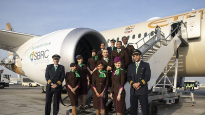 Eithad flight from Abu Dhabi to Amsterdam powered by sustainable fuel