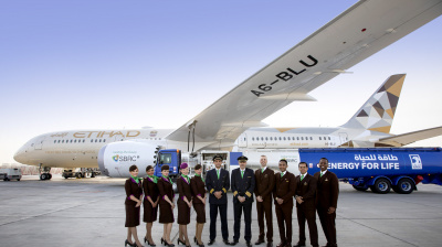 Etihad flight is the first to fly with fuel made in the UAE from plants