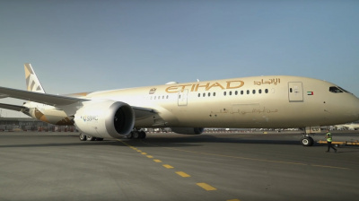 Etihad Flight EY77 takes to the skies with sustainable fuel
