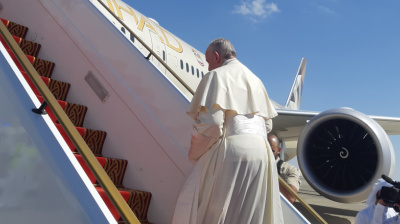 Etihad flies His Holiness Pope Francis home following historic UAE visit