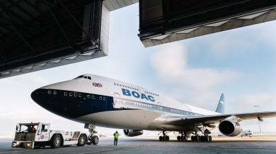 British Airways unveils Boeing 747 with BOAC Livery