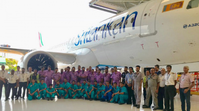 SriLankan Engineering completes first C-check on A320neo