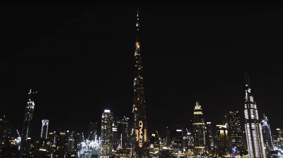 Etihad showcases spectacular light show at the Burj Khalifa
