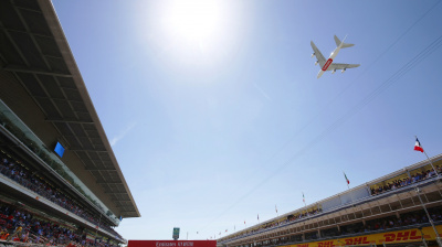 Gallery: Emirates flyby over Formula 1 Spanish Grand Prix