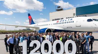 Airbus delivers its 12,000th aircraft to Delta Air Lines