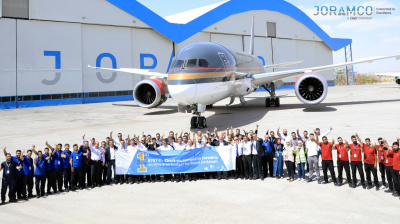 Joramco completed B787 C Check for Royal Jordanian