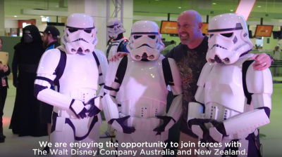 Video: Virgin Australia surprises passengers with Star Wars sendoff