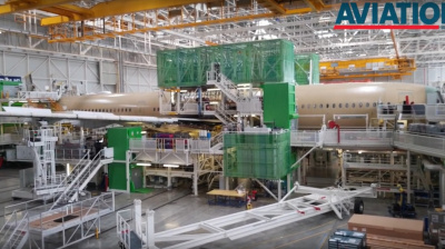 Video: Highlights from AVB's tour of Airbus A350XWB assembly facility in Toulouse