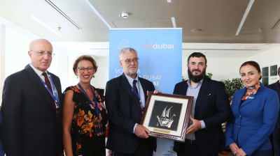 Flydubai's inaugural flight to Naples has landed