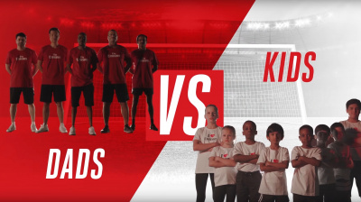 Video: Emirates celebrates Father's day with friendly match between fathers and their kids