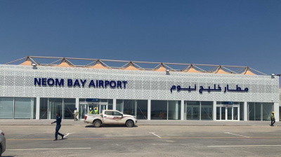 This is what Saudi Arabia's Neom Bay Airport looks like