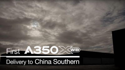 Video: Airbus delivers first A350-900 to China Southern Airlines