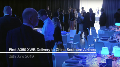 Video: Airbus and China Southern Airline celebrate A350XWB delivery