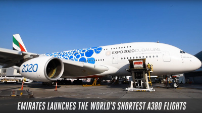Video: Emirates A380 lands in Muscat in style
