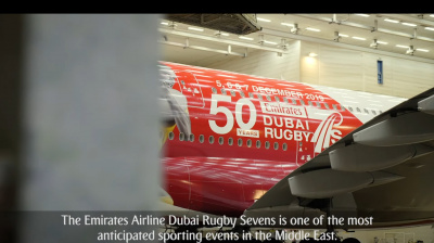 Video: Emirates unveils 50th Anniversary livery for Dubai Rugby Sevens