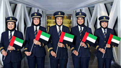 Emirates first officers celebrate Emirati Women's Day by flying to five continents