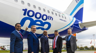 IndiGo takes delivery of Airbus' 1,000th A320neo