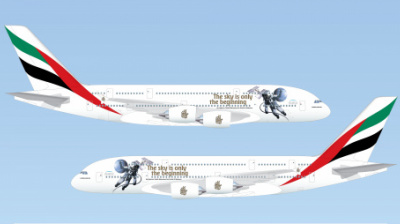 Emirates celebrates historic UAE space mission with new A380 livery