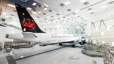 Air Canada's first of 45 A220s rolls out of Mirabel