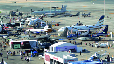 ONES TO WATCH: Aircraft on display at Dubai Airshow