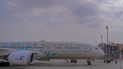 Etihad is first foreign airline to fly to new Saudi terminal