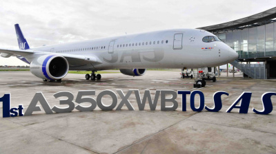SAS takes delivery of first A350XWB ahead of long-haul expansion