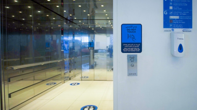 Abu Dhabi International makes 53 airport elevators touch-free