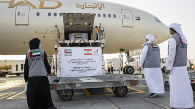 Etihad ferries 16 tonnes of government aid to Beirut