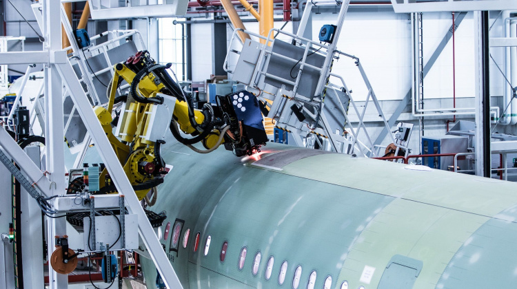 Aviation is increasingly seeing automated manufacturing processes, similar to the car industry.