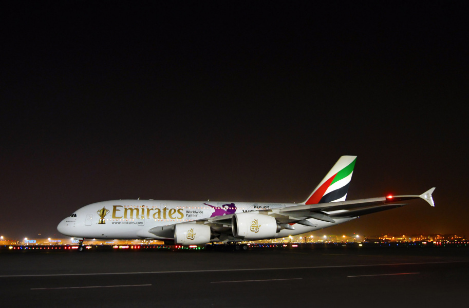 Emirates delivers Webb Ellis Cup to Japan
