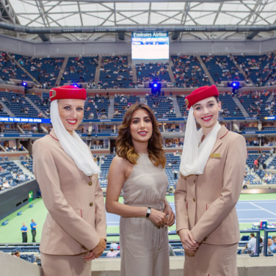Pictures: Celebrities at the Emirates Suite during the 2019 US Open