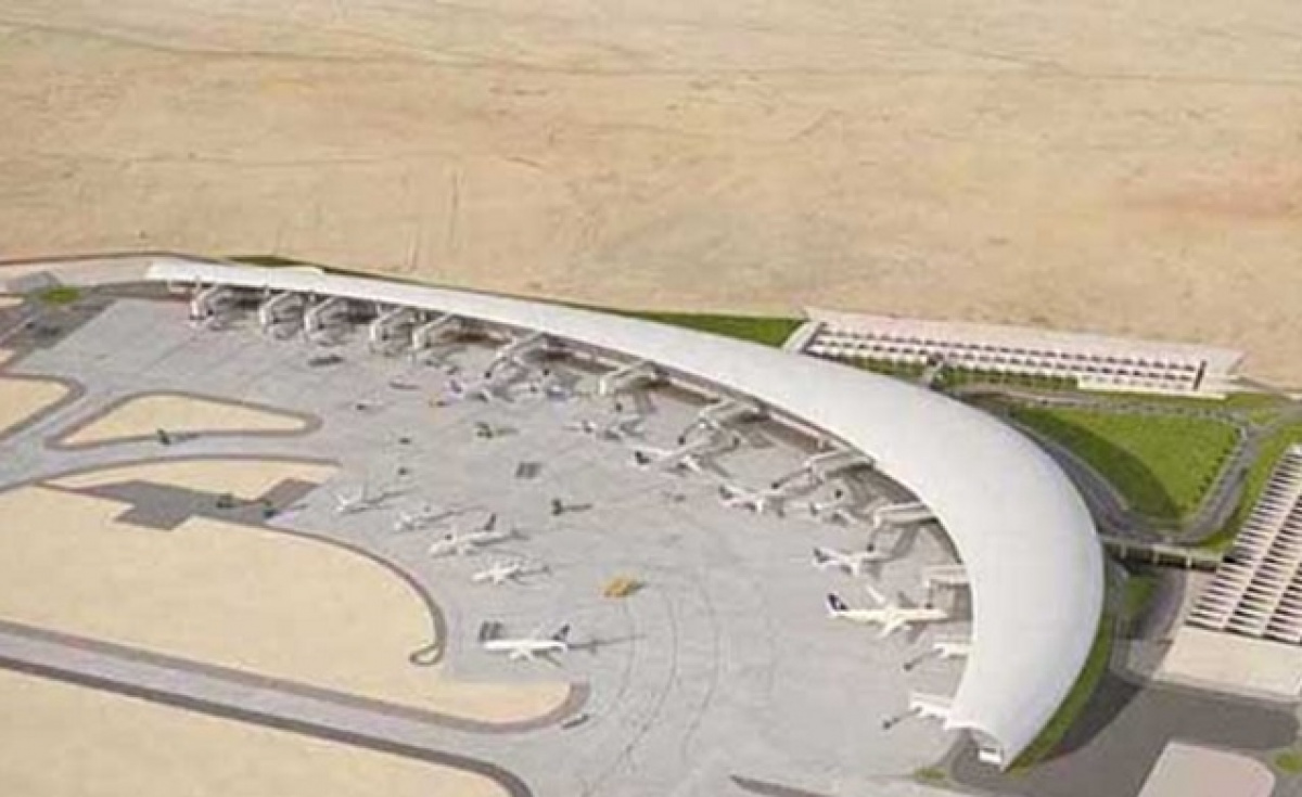 Artist's impression of the new airport in Abha. Photo: http://airportsecurity-ksa.com/