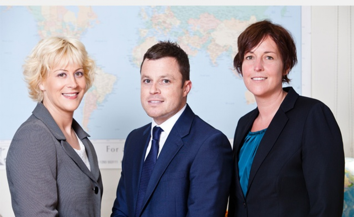 (L-R) Eliska Mundell, general manager of UAE, Paul Drew, commercial manager of cargo department and Sandra Gilles, charter manager of passenger department, head up the team on the ground.