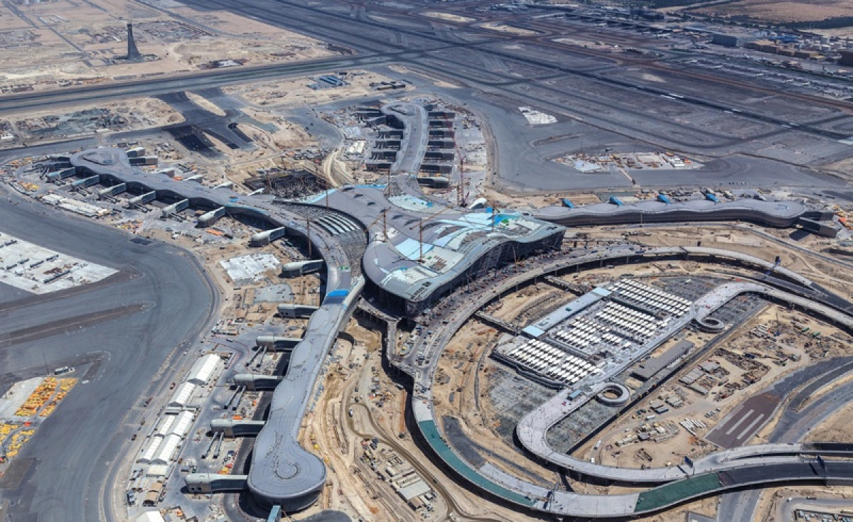 The terminal, originally scheduled to open in September this year, is currently 86 percent complete according to a statement from Abu Dhabi Airports.