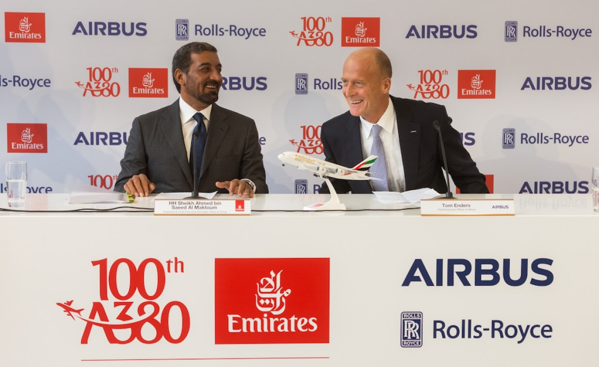 "The pressure, it seems, is on Airbus to deliver. Airbus chief Tom Enders repeatedly expressed his wish that Emirates continue with deals for further A380s, at one point during the press event even joking that he might not let head salesman John Leahy retire ""unless he brings in one more A380 deal."""