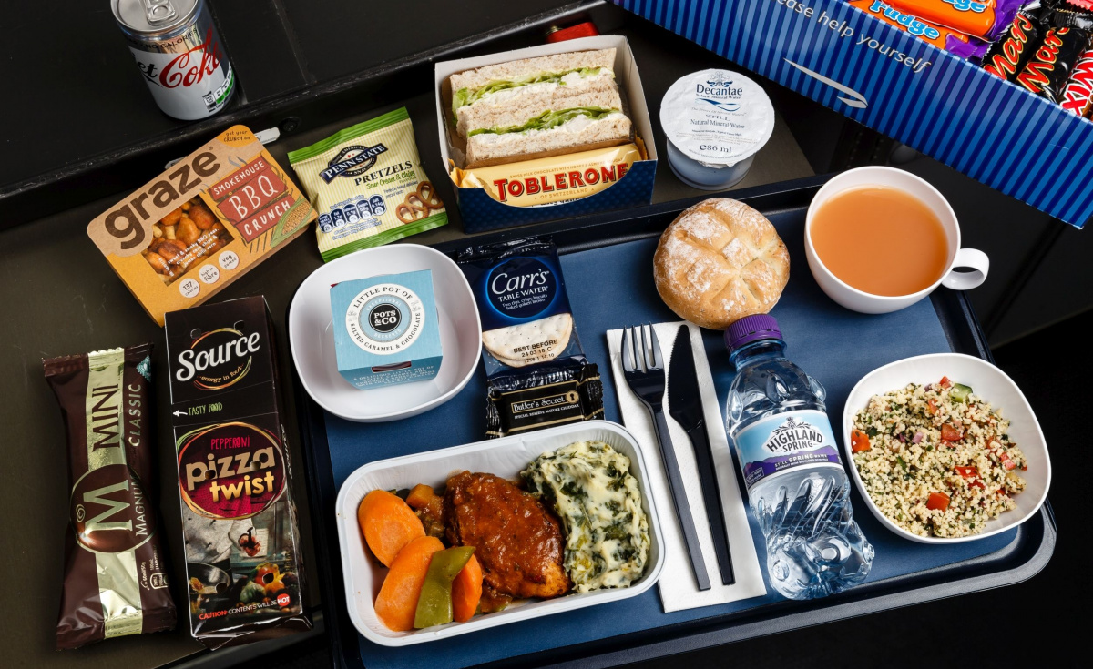 """Martinoli: """"With this multi-million pound investment we've focused on introducing more quantity and quality to the catering, delivering tasty meals and great snacking options throughout the flight."""""""