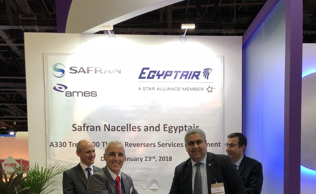 The agreement was signed and revealed during MRO Middle East 2018.
