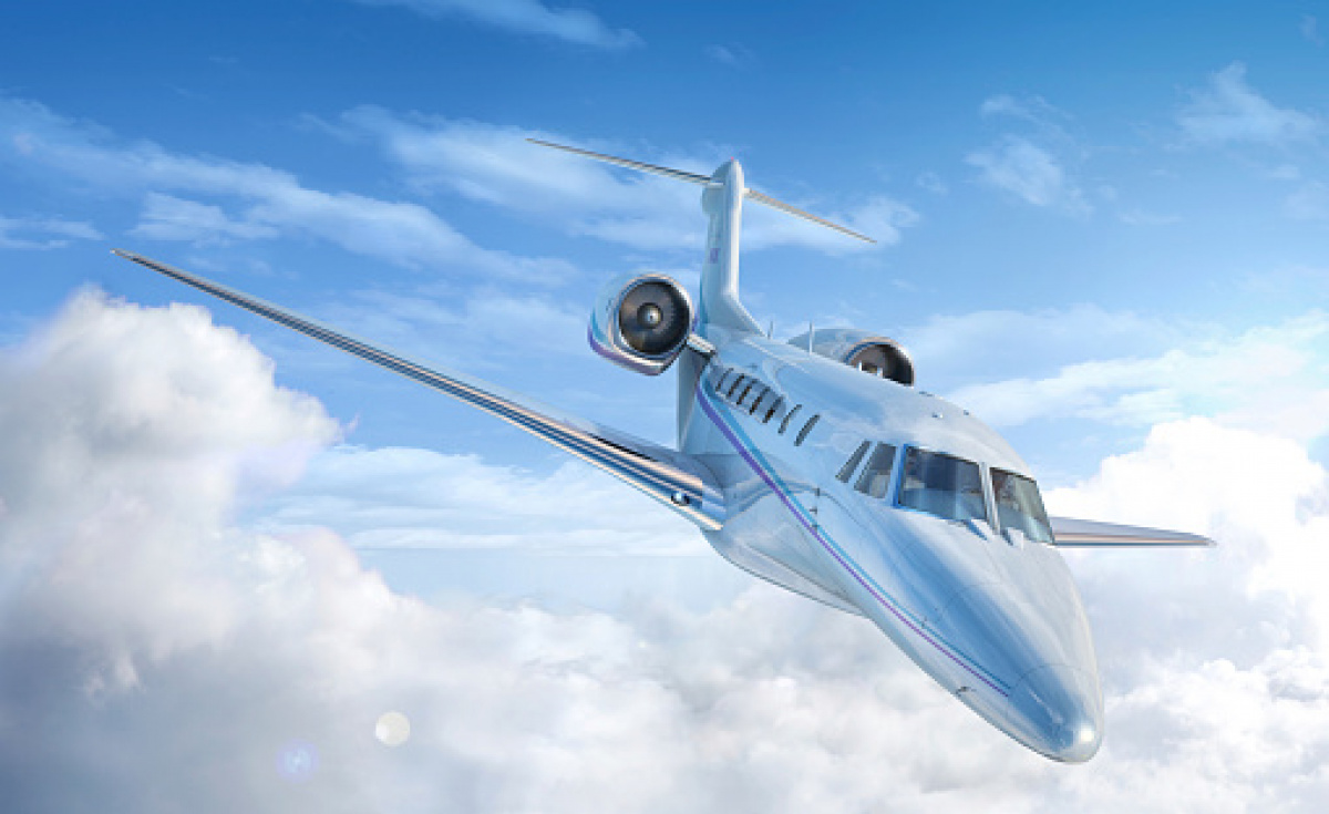 Private jet in the clouds (Image for illustration purposes only)