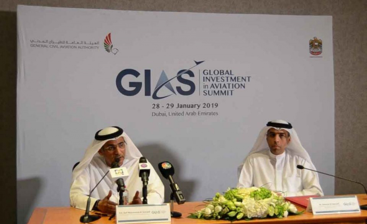 Dubai will host the first Global Investment in Aviation Summit (GIAS) from 27-29 January 2019.